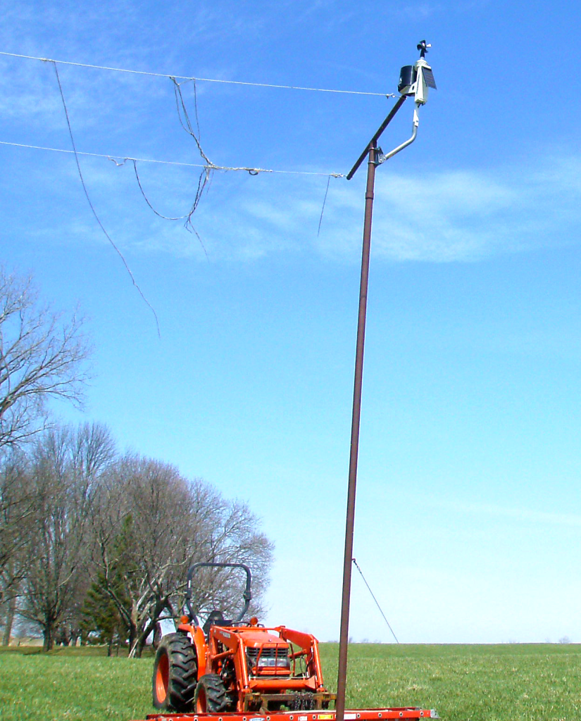 A Rainwise MK-III-LR weather station is installed on the property and feeding current conditions