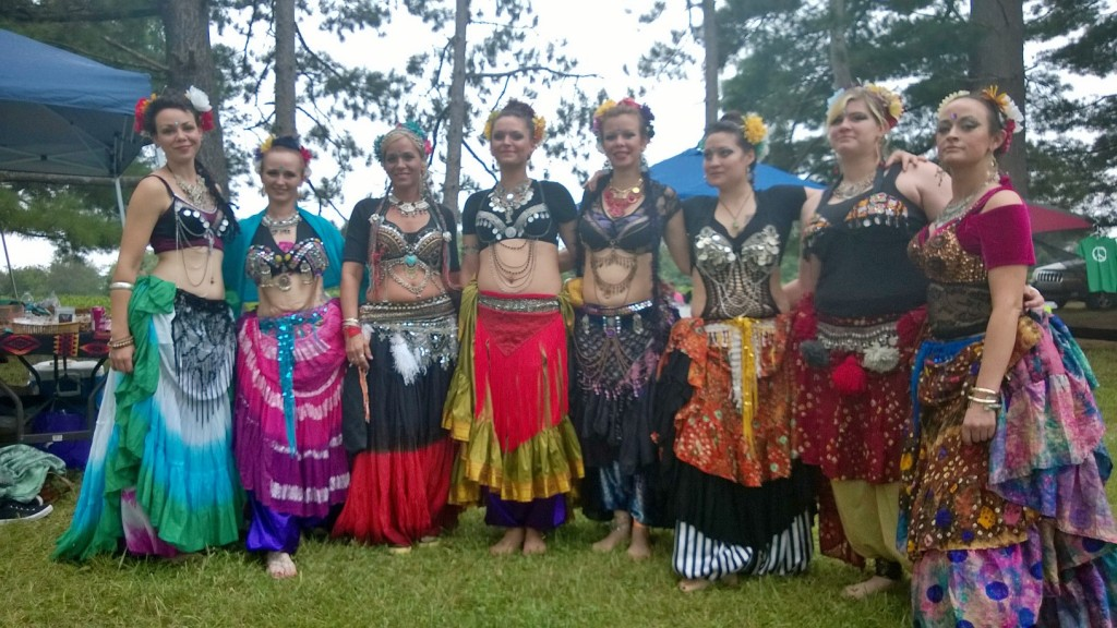Durunda Tribal Dancers posing at Prophets Fest 2014